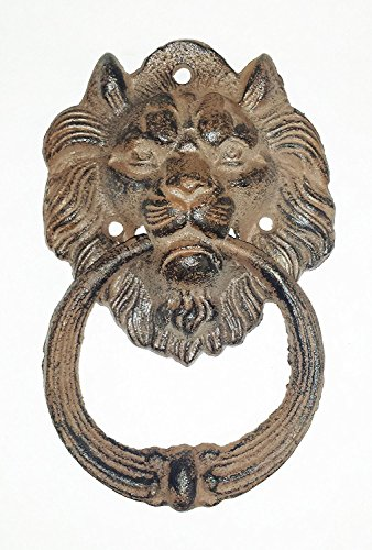 Head Labret (Starworld- Heavy Cast Iron Antique Style Nautical LION HEAD Door Knocker 6.5 inch Brown Finish)