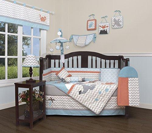 GEENNY Baby Boy Dinosaurs 13 Piece Nursery Crib Bedding Set