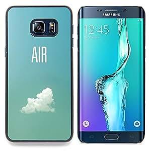 Stuss Case / Funda Carcasa protectora - Aire Piloto Plano Cielo Nube Verano Azul - Samsung Galaxy S6 Edge Plus / S6 Edge+ G928