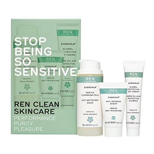 はとても敏感なキットであることを停止します x4 - REN Stop Being So Sensitive Kit (Pack of 4) [並行輸入品]   B07255H22Q