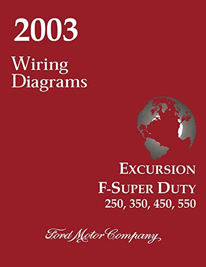 amazon com bishko automotive literature 2003 ford excursion f superamazon com bishko automotive literature 2003 ford excursion f super duty f250 f550 wiring diagrams schematics drawings automotive