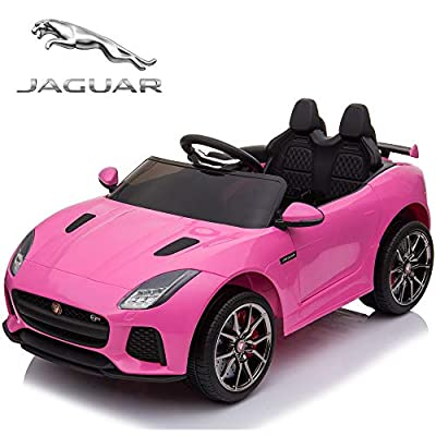 TAMCO Ride On Car, Jaguar F-Type SVR Convertible Electric Car, 2.4G Remote Control, MP3 Music Playing, Max Load 66LB from TAMCO