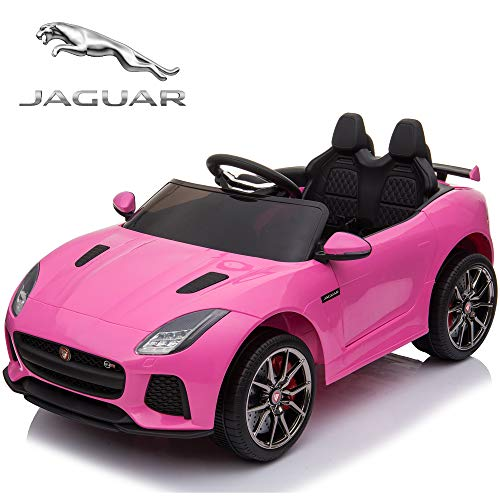 - TAMCO Ride On Car, Jaguar F-Type SVR Convertible Electric Car, 2.4G Remote Control, MP3 Music Playing, Max Load 66LB (Pink)