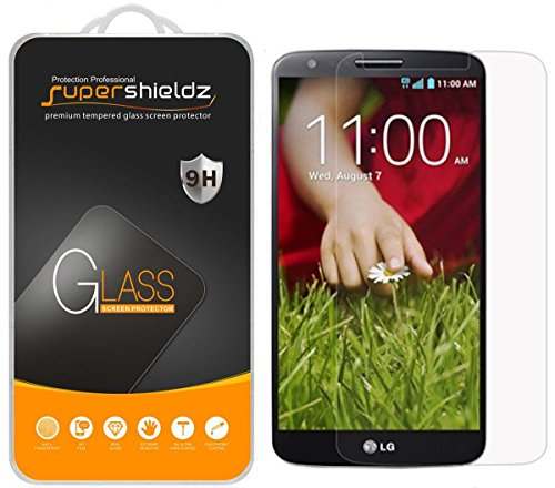 [3-Pack] Supershieldz for LG G2 Tempered Glass Screen Protector, Anti-Scratch, Anti-Fingerprint, Bubble Free, Lifetime Replacement (Best Glass Screen Protector For Lg G2)
