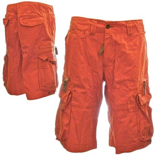 Cotone 100 Cargo Corti Combattimento Resistenti Qualità Taglie Eccellente 52010 Uomo Durevoli Grandi Arancione Grandi Pantaloncini Sizeups Molecule E Da Acceso qvF5Ptvwx