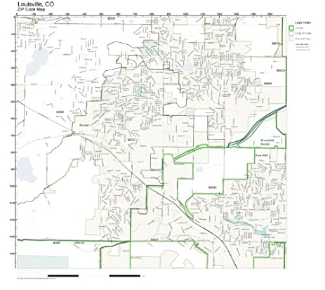 Amazoncom ZIP Code Wall Map Of Louisville CO ZIP Code Map Not - Colorado zip code map