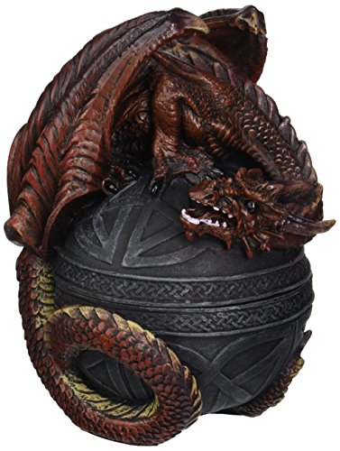 Design Toscano Dragon Protector of the Celtic Orb Sculptural Box