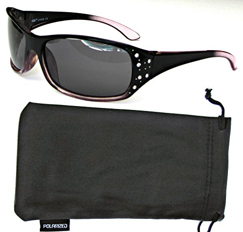 Vox Womens Polarized Sunglasses Designer Sport Fashion Rhinestones Free Pouch