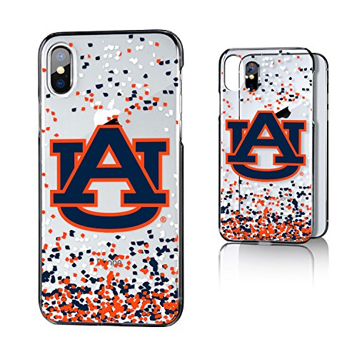 Auburn Tigers Cell Phone Case (Keyscaper Auburn Tigers Confetti iPhone X Clear Case NCAA)