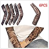 EDTara 6pcs Tattoo Cooling Arm Sleeves Arm Elbow Compression Sleeve Sun Guard Cover up for Outdoor Cycling Golfing Basketball Baseball Tennis Soccer