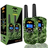 GoBig Walkie Talkies for Kids Voice Activated Walkie Talkies for Adults and Kids 3 Mile Range 2 Way Radio Walkie Talkies Built in Flash Light Camo Green (2 Pack)