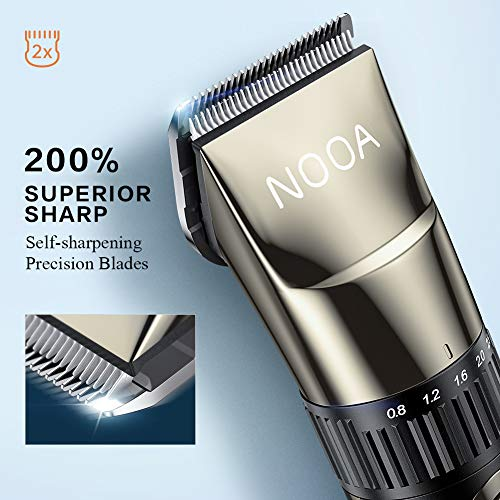 NOOA Hair Clippers Cordless Hair Trimmer Mens Beard Trimmer Complete Haircut Grooming Kit Hair Cutting Kit for Men, Women & Kids Rechargeable