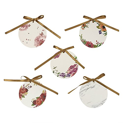 50 PCS Personalized Paper Wedding Gift Tags Craft Hang Tags with Ribbon for Wedding Party DIY Gift (Personalized Cookie Favors)