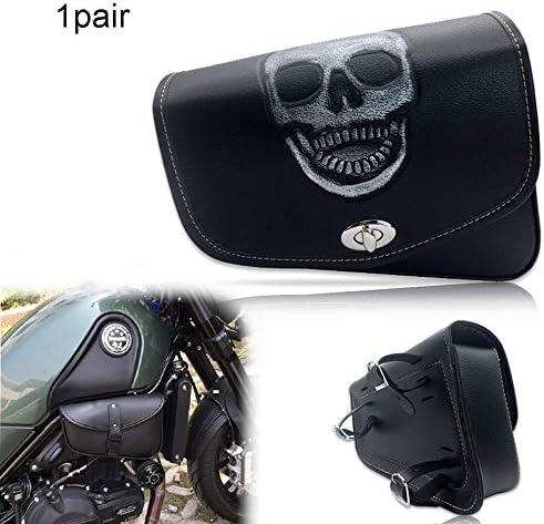 1ペアオートバイのサイドサドルPUレザー防水リアシートサドルバッグトラベルツールテール荷物バッグ
