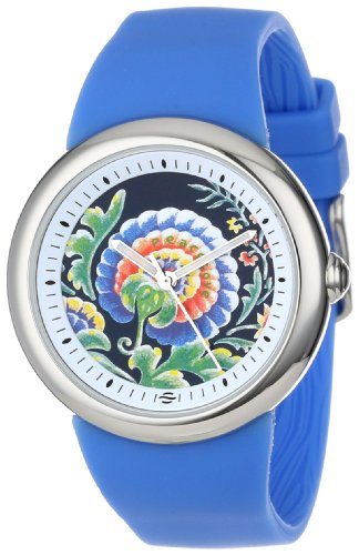 PeaceLove Quartz Stainless Steel and Silicone Casual Watch, Color:Blue (Model: F36S-PLFBL-BL)