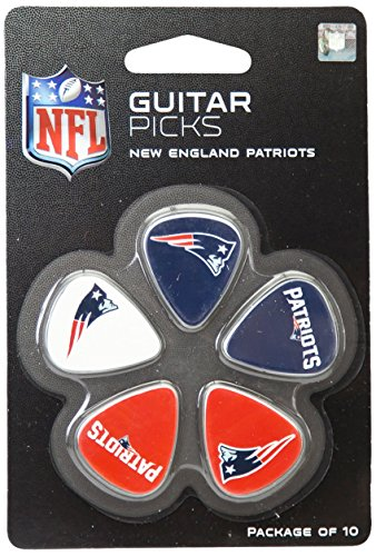 Woodrow Guitar by The Sports Vault NFL New England Patriots Guitar Picks, 10 Pack