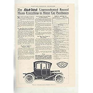 1911 Abbott Detroit Automobile Ad Shur-on Eyeglass Mountings Rochester