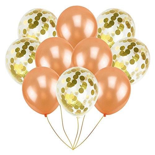 10 pcs 12 pouces Transparent Latex Ballon Romantique De Mariage Décoration Rose Or Paillettes Ballons D'anniversaire Parti Fournitures