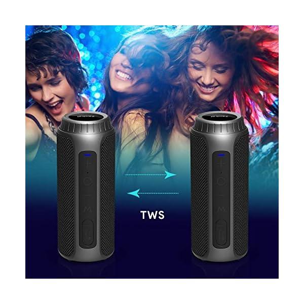 Zamkol Cassa Bluetooth 5.0, 30W HD Stereo Altoparlante Portatile con Bassi Potenti, IPX6 Waterproof Speaker bluetooth… 3 spesavip