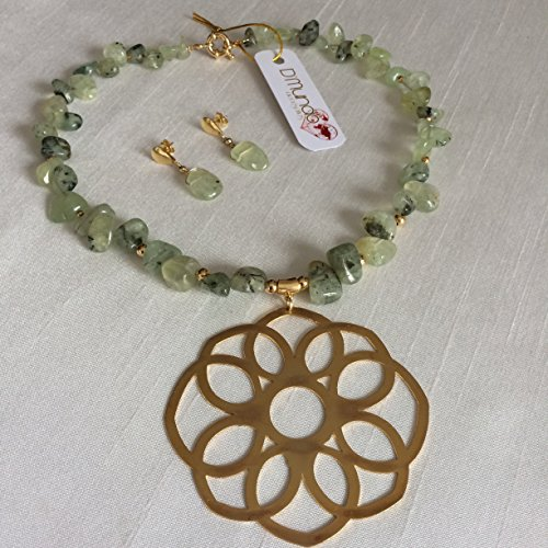 Amazon set prehnite gemstone genuine prehnite necklace and set prehnite gemstone genuine prehnite necklace and earrings on sale yellow gold plated aloadofball Gallery