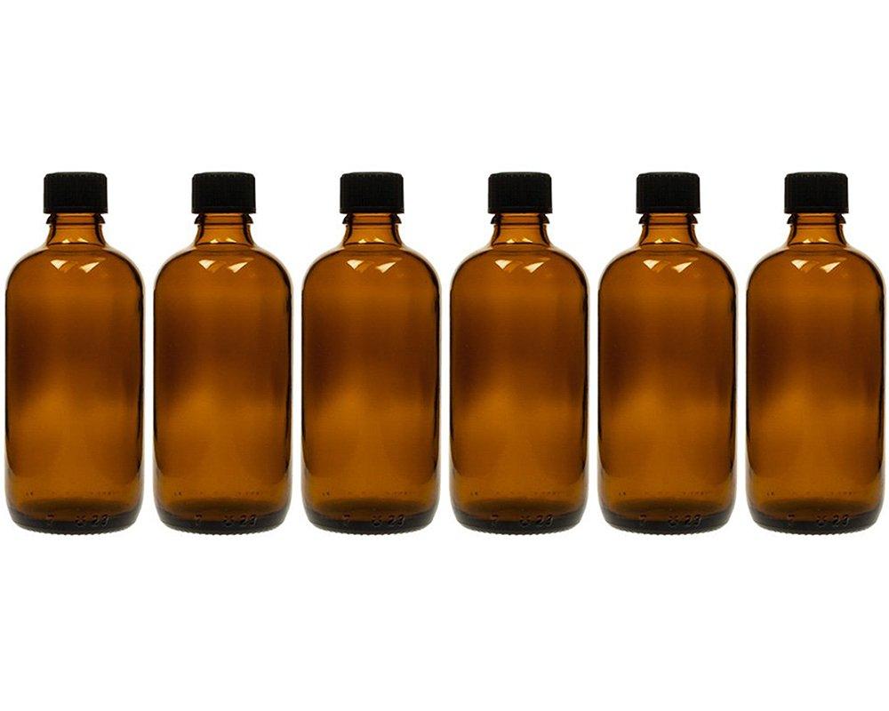 Gota botellas, 6unidades de botellas de cristal (con tropfei nsatz de cristal marrón | cantidad de relleno: 100ml | frascos de farmacia | tropffl Ash Dosificar de líquidos Ojo gota S de Liquids tropfve rschlüssen hocz