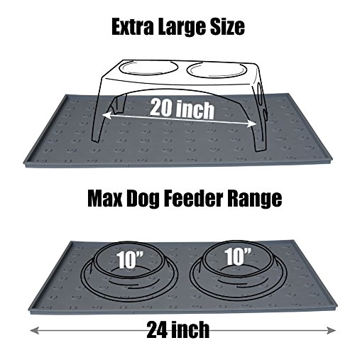 WooPet! Pet Food Mat 24''x16'' Tan Extra Large, Premium Silicone Food Safe Cat or Dog Feeding Mat by WooPet! (Image #8)