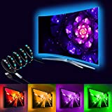 SZC Bias Backlight Accent USB Led Strip RGB Lights with Remote Control for Flat Screen TV Accessories, Desktop PC and HDTV