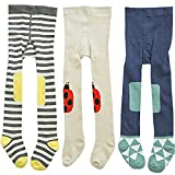 3 Pack Of Baby Toddlers Girl Stocking Warn Legging Pants Cotton Footed Tights 1T-2T