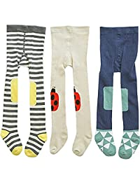 3 Pack Of Baby Toddlers Girl Stocking Warn Legging Pants Cotton Footed Tights