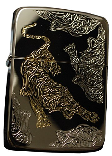 Zippo Lighter Genuine Design 1941 Replica Tiger Black