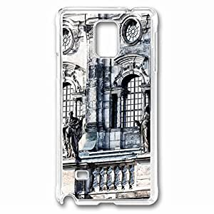 The Catholic Church Of The Royal Court Of Saxony Custom Back Phone Case for Samsung Galaxy Note 4 PC Material Transparent -1210473 hjbrhga1544