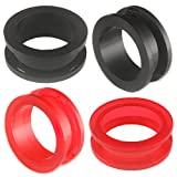 2 Pairs 15/16 inch 24mm Acrylic screw flesh tunnel plugs Ear ring stretchers Expanders ASSD Piercing