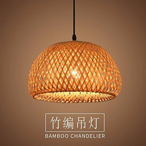 Lámpara colgante de bambú americano restaurante bambú iluminación Arte arte de ratán