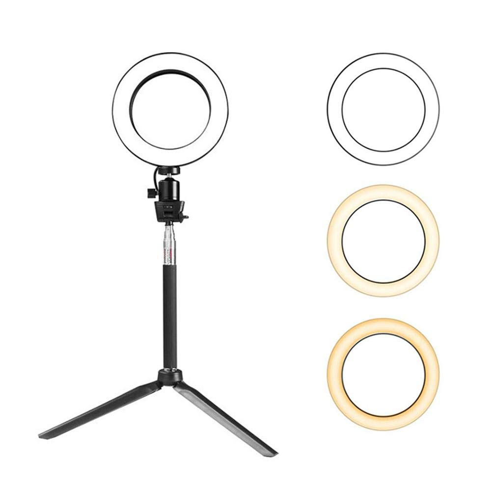 FOONEE Dimmable Ring Light Kit, 8 Inch Scalable Selfie Ring Light LED Camera Lighting with Cell Phone Holder Stand for Live Stream/Makeup for iPhone 8/X/7/6 Plus, Android, Xiaomi etc.(3-Light Mode)
