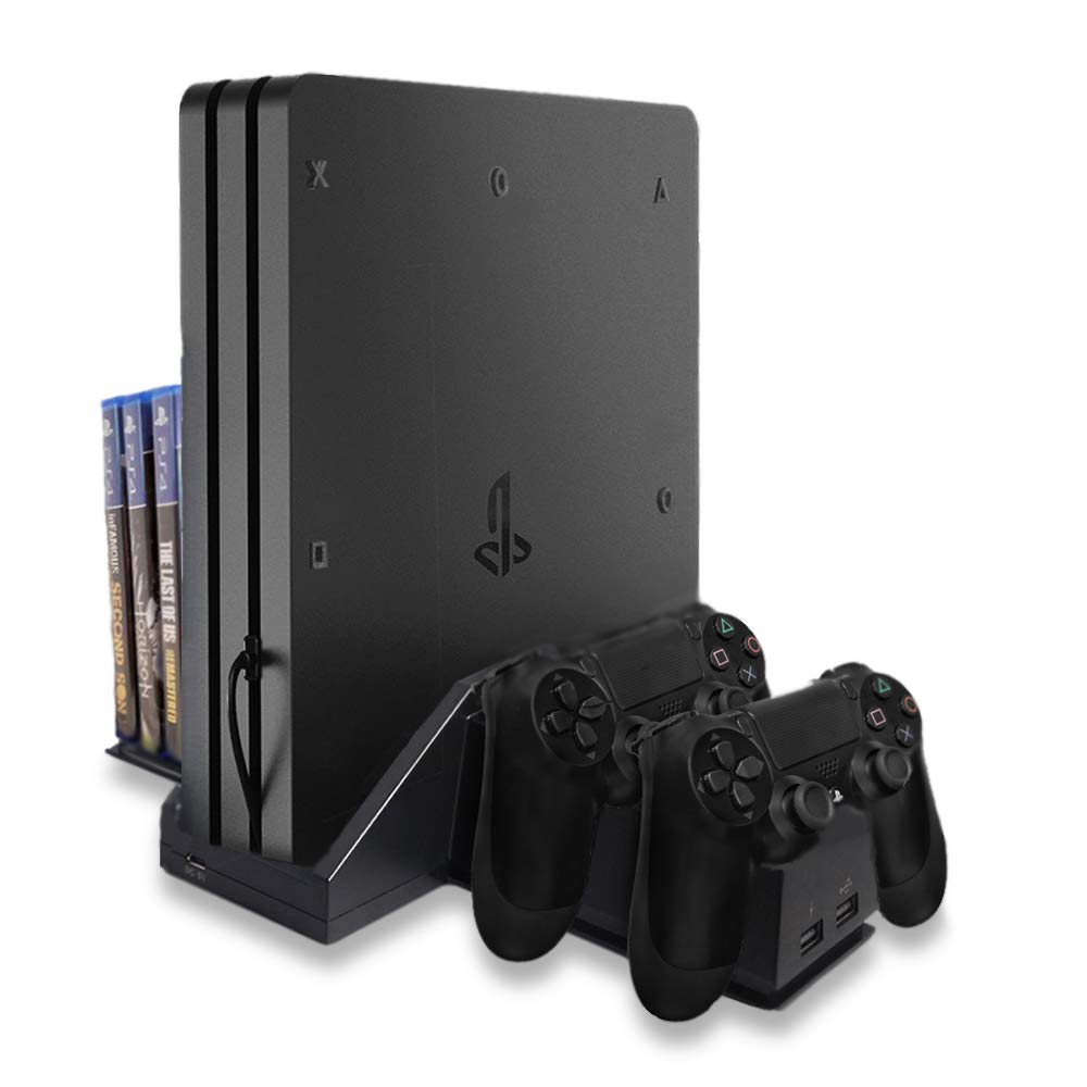 PS4 Pro Stand | Extra Game Storage | Controller Charger| LVL99Gear by Lvl99Gear