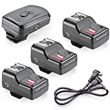 Neewer 16 Channel Wireless Flash Trigger Set 1 Transmitter + 3 Receivers + 1 Sync Wire Cable for Canon 580EX II 580EX 550EX 540EZ 520EZ 430EX 430EZ 420EX 420EZ 380EX, Nikon SB-800 SB-600 SB-28 SB-27 SB-26 SB-25 SB-24, Olympus FL-50 FL36, Pentax AF-540 FGZ AF-360 FGZ AF-400 FT AF-240 FT, Sigma EF-500 DG Super EF-500 DG ST EF-430, Sunpak Auto 2000DZ 622 Pro 433AF 433D 383 355AFm 344D 333D, Vivitar 285HV and Other Flash Units with Universal Hot Shoe