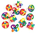 Neliblu Fun Puzzle Balls - Goody Bag Fillers - Party Favors, Party Toys, Goody Bag Favors, Carnival Prizes, Pinata Filler - Fidget Brain Teaser Puzzles (12 Pack) Clear Instructional Videos Included!