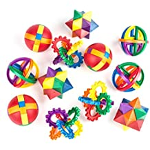 "Fun Puzzle Balls by Neliblu - Clear Instructional Videos and Sheets Included - Bulk Party Favors - Party Games - Fidget Brain Teaser Puzzles 2.5"" - 1 Dozen Bulk Pack of Party Toys"