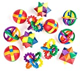 Fun Puzzle Balls by Neliblu - Clear Instructional Videos and Sheets Included - Bulk Party Favors - Party Games - Fidget Brain Teaser Puzzles 2.5' - 1 Dozen Bulk Pack of Party Toys