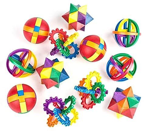 Fun Puzzle Balls by Neliblu - Bulk Party Favors - Party Games - Fidget Brain Teaser Puzzles 2.5