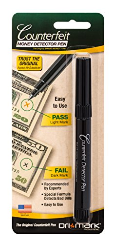 - Dri-Mark Counterfeit Money Detector Pen for Use with U.S. Currency