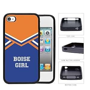 Boise City Girl School Spirit Cheerleading Uniform iPhone 4 4s Rubber Silicone TPU Cell Phone Case