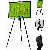Tablero de entrenamiento de táctica magnética de fútbol Tablero de táctica de fútbol con bolsa de transporte con pantalla, rotulador e imanes - Juego de tablero de estrategia de tablero táctico plegab