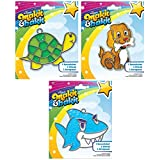 Suncatcher Kits - Turtle (1), Puppy with Bone (1), Shark (1) - by Makit & Bakit / Colorbok - sun catcher stained glass art project for kids - Boys, girls, and children 8 years and older - Bundle of 3