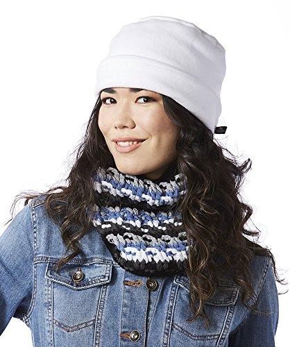 Screamer Women's Fleece Rollup Beanie, One Size, Winter White ()