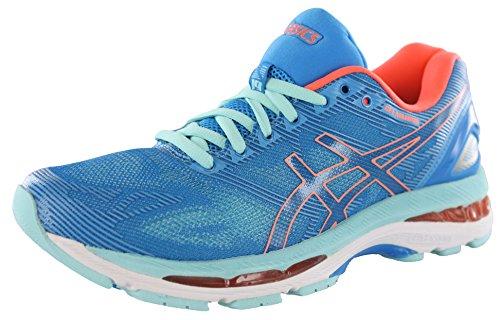 ASICS Women's Gel-Nimbus 19 Running Shoe, Diva Blue/Flash Coral/Aqua Splash, 8 M US