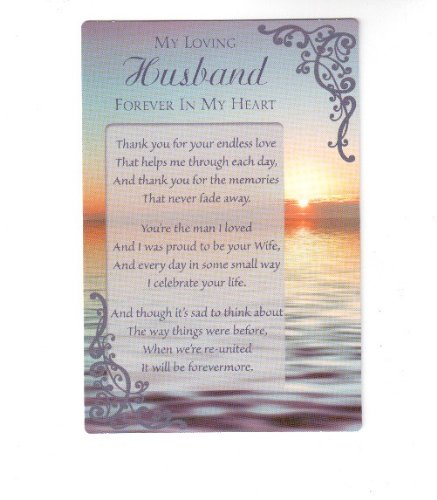 In Loving Memory Of My Husband Grave Memorial Card Amazoncouk