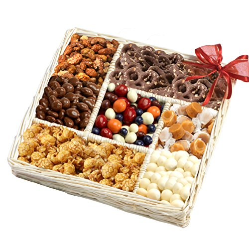 Gourmet Sweet and Savory Nut Gift Basket by Broadway Basketeers