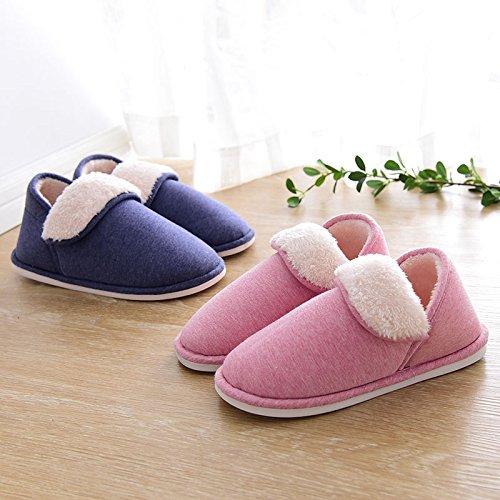 Inverno Felpato skid Ymfie E Donne Scarpe Arredamento Casa Anti Ispessimento D Caldo Cotone Pantofole Uomini d7fwxZtf