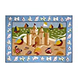 Fun Rugs Olive Kids OLK-050 Sand Castle Area Rug - Multicolor by LA Rug